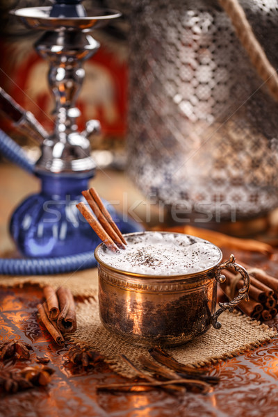 Chai latte, oriental sweet drink Stock photo © grafvision