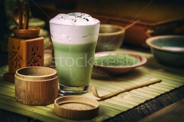 Tè verde vetro Cup verde bere tè Foto d'archivio © grafvision
