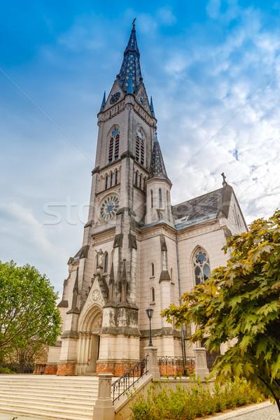 İsa kalp kilise Bina şehir seyahat Stok fotoğraf © grafvision