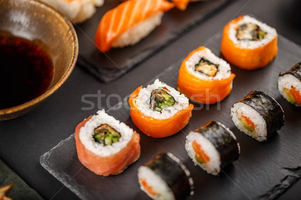 Delicious sushi rolls Stock photo © grafvision