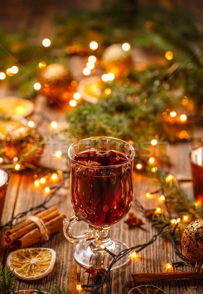 Navidad caliente vino canela estrellas anís Foto stock © grafvision