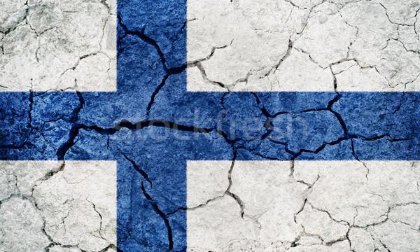 республика Финляндия флаг высушите земле землю Сток-фото © grafvision