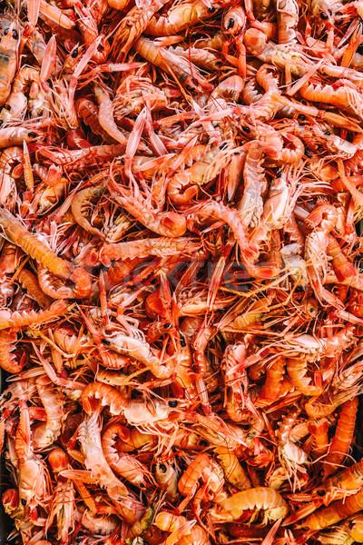 Taze karides pazar gıda Stok fotoğraf © grafvision
