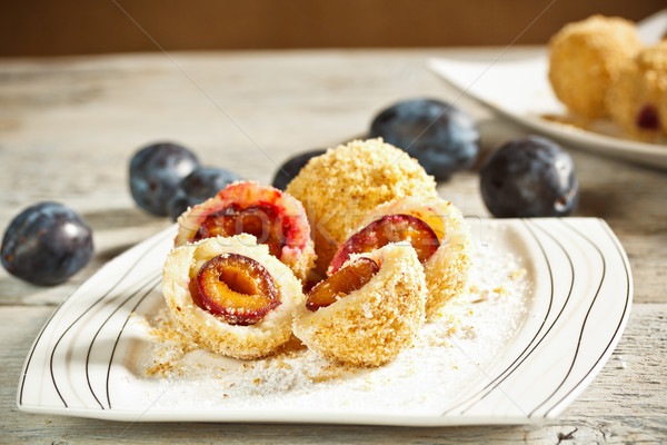 Sweet plum dumplings  Stock photo © grafvision