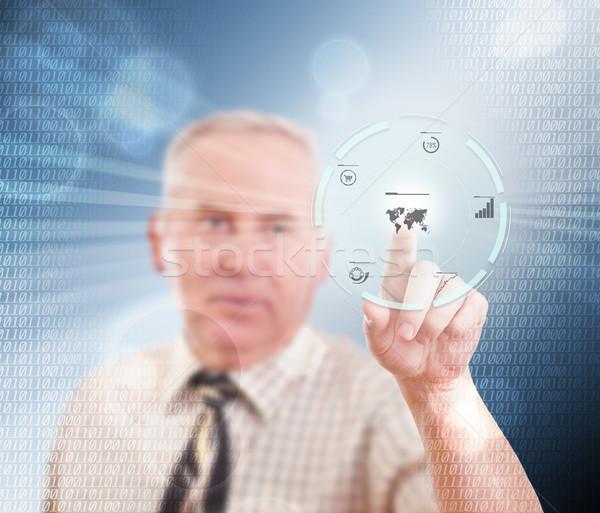Supérieurs affaires élevé tech type Photo stock © grafvision