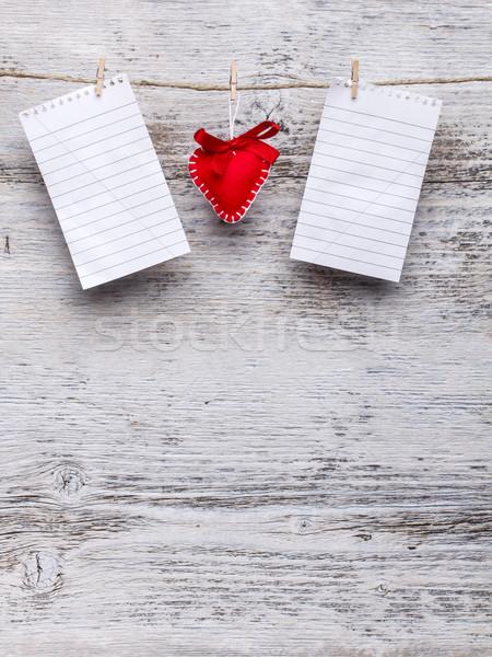Handmade felt heart Stock photo © grafvision