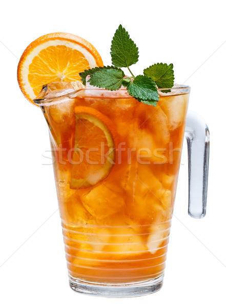 Carafe of iced tea Stock photo © grafvision