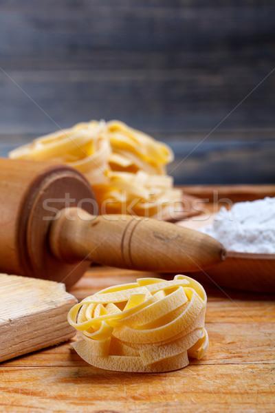 Italian pasta fettuccine Stock photo © grafvision