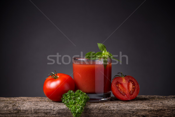 Glass of tomato juice Stock photo © grafvision