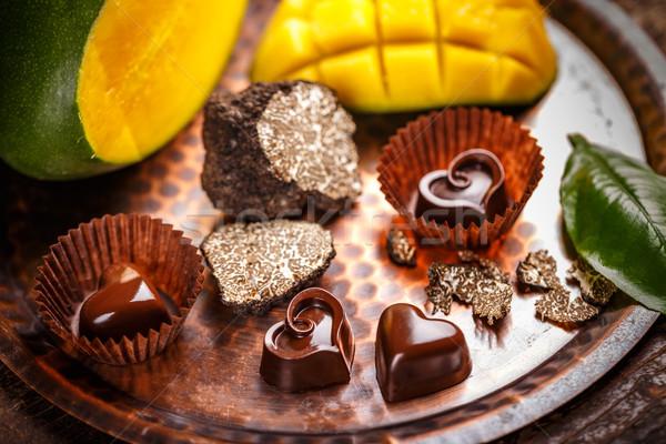 Homemade chocolate praline Stock photo © grafvision