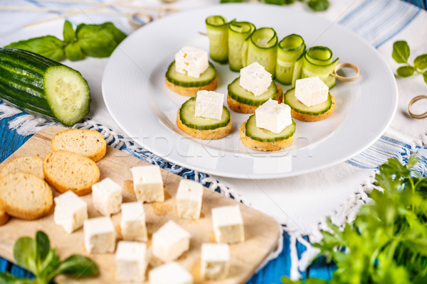 Healthy finger food Stock photo © grafvision