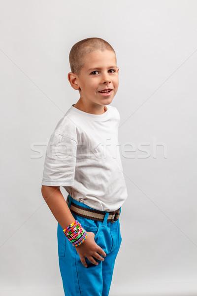少年 着用 カラフル バンド ゴム 子 ストックフォト © grafvision