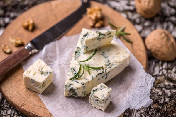 Schimmelkaas achtergrond kaas eten Stockfoto © grafvision
