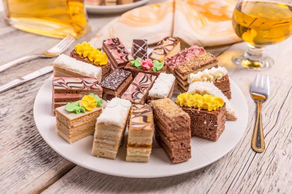 Mini dolci diverso crema party cioccolato Foto d'archivio © grafvision