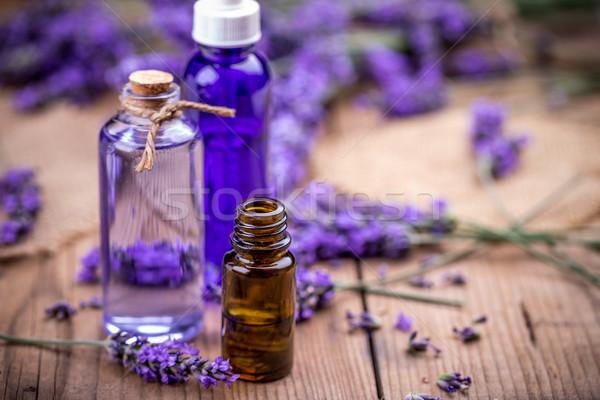 бутылок свежие лаванды цветы тело Сток-фото © grafvision