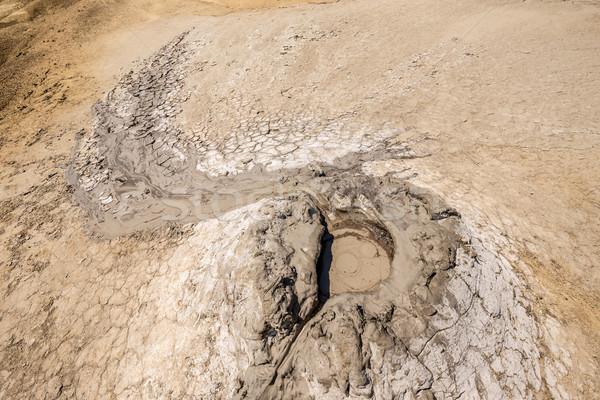 Aktywny błoto wulkan mały kopuła tekstury Zdjęcia stock © grafvision