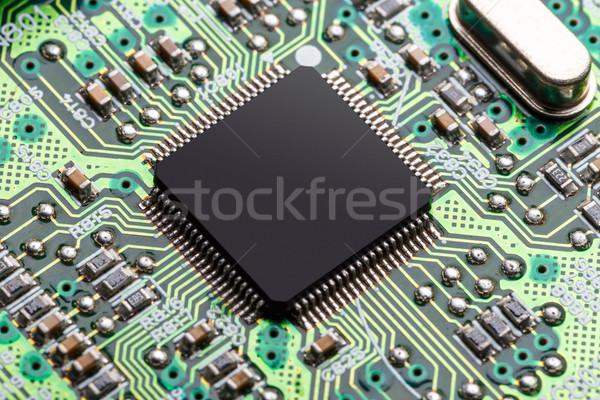 マイクロチップ エレクトロニクス 送信 情報 コンピュータ インターネット ストックフォト © grafvision