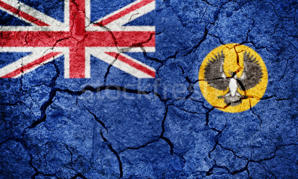 Sul da austrália bandeira secar terra terreno textura Foto stock © grafvision
