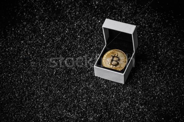 Golden bitcoin coin Stock photo © grafvision