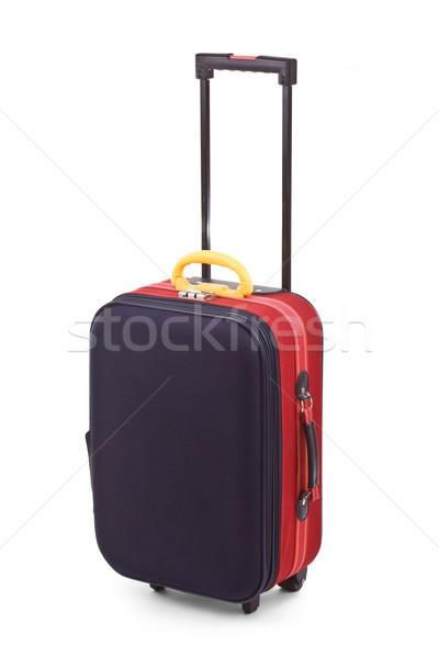 Bőrönd izolált fehér üzlet repülőtér aktatáska Stock fotó © grafvision