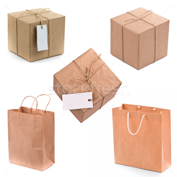gift box and bags Stock photo © grafvision