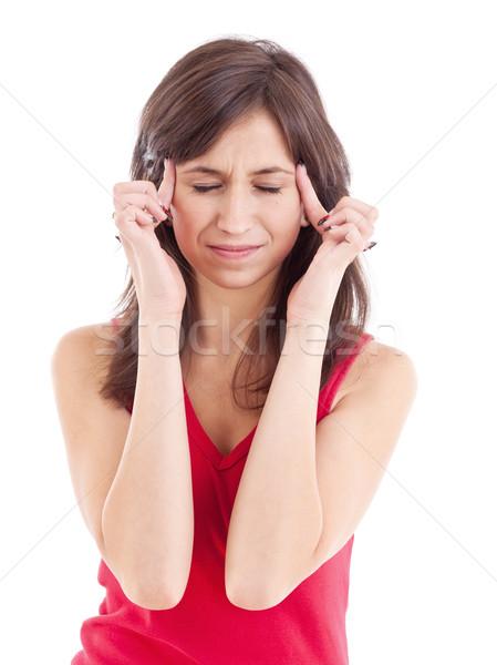 Teen woman with headache Stock photo © grafvision