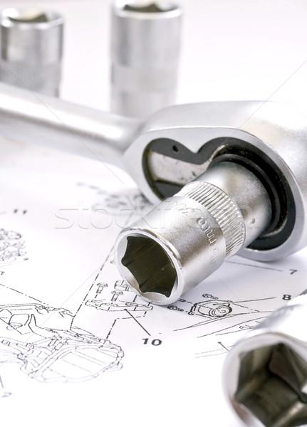 Rachet and sockets Stock photo © grafvision