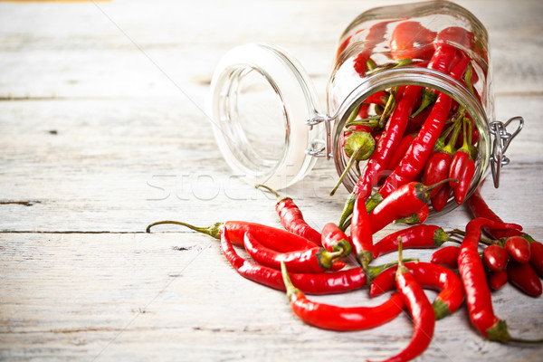 Jar of chilly pepper Stock photo © grafvision