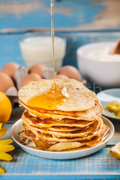 Stack of pancakes Stock photo © grafvision