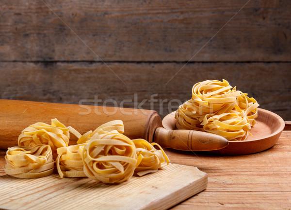 Homemade italian pasta fettuccine Stock photo © grafvision