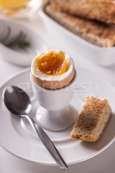 Soft grillé pain alimentaire déjeuner Photo stock © grafvision
