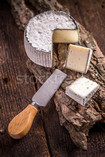 Queijo camembert queijo fatia rústico estilo comida Foto stock © grafvision