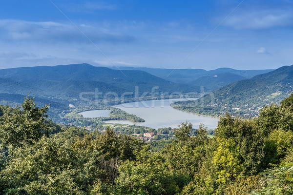 Danubio curva città natura Hill Foto d'archivio © grafvision