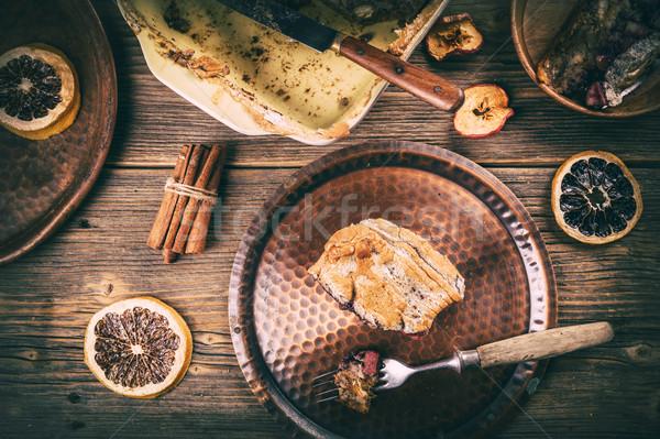 Doce caseiro pão pudim sobremesa Foto stock © grafvision