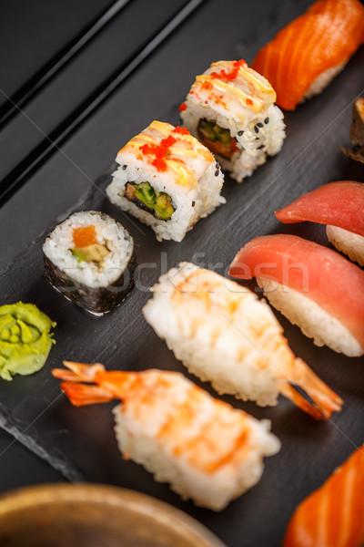 Sashimi sushi set soia zenzero Foto d'archivio © grafvision