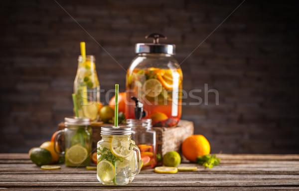 Día de verano albañil jar verano hielo Foto stock © grafvision