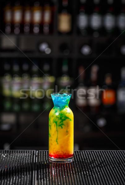 Tarka koktél felszolgált bár pult buli Stock fotó © grafvision