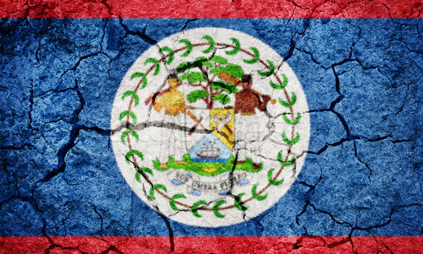 Belize zászló száraz Föld föld textúra Stock fotó © grafvision