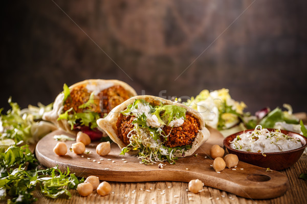 Falafel and fresh lettuce Stock photo © grafvision
