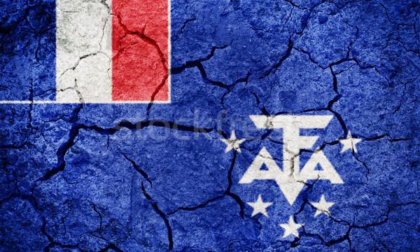 французский южный флаг высушите земле землю Сток-фото © grafvision