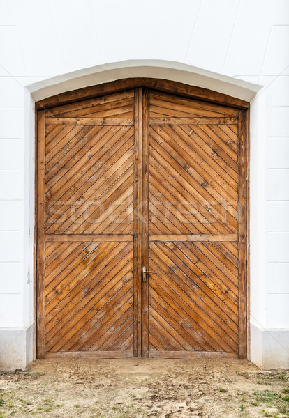 Old wooden front door Stock photo © grafvision