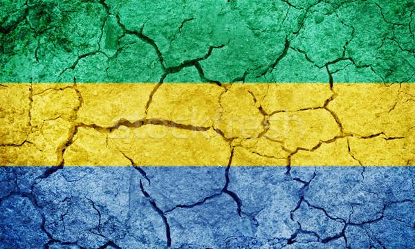 República bandeira secar terra terreno textura Foto stock © grafvision