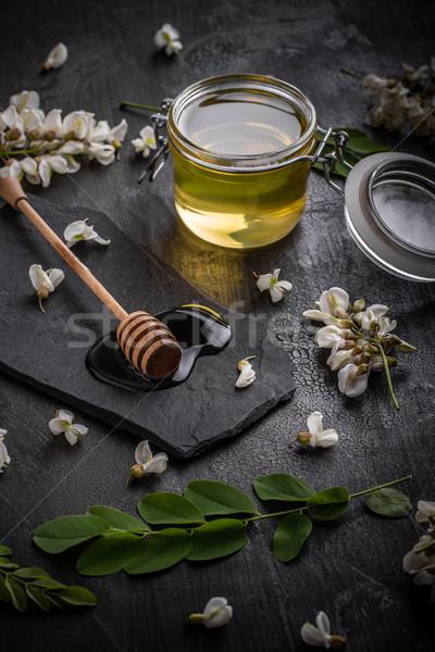 Acacia flowers and natural honey Stock photo © grafvision