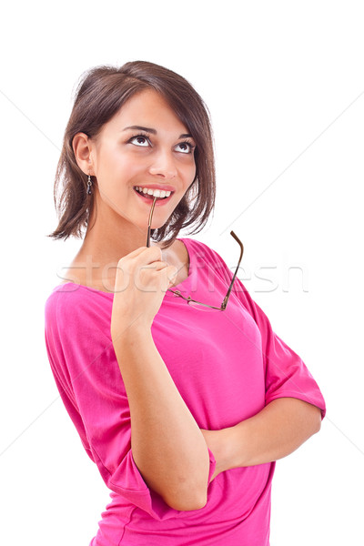 female contemplating Stock photo © grafvision
