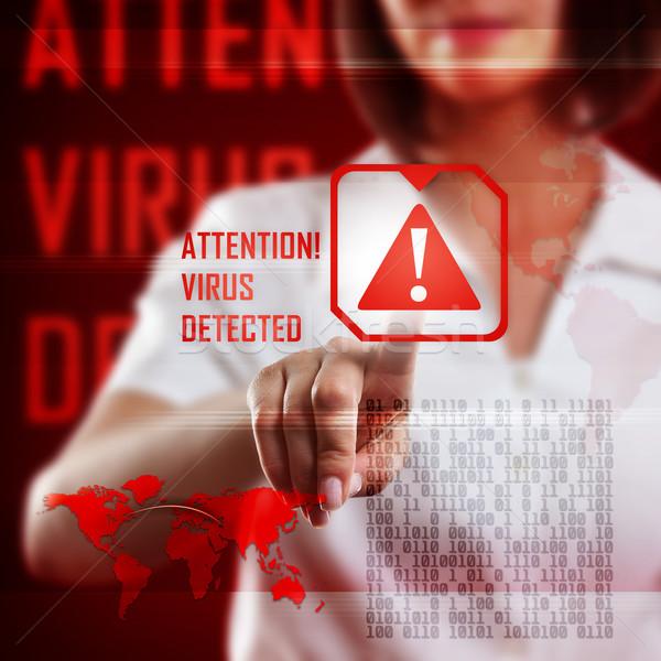 デジタル コンピューターウイルス 通信 暗い 情報 ストックフォト © grafvision