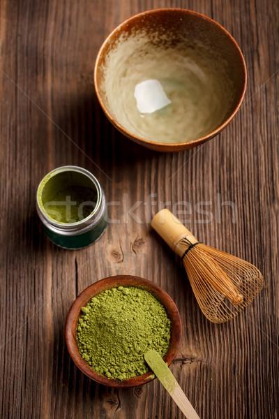 Японский чай церемония изображение зеленый пить Сток-фото © grafvision