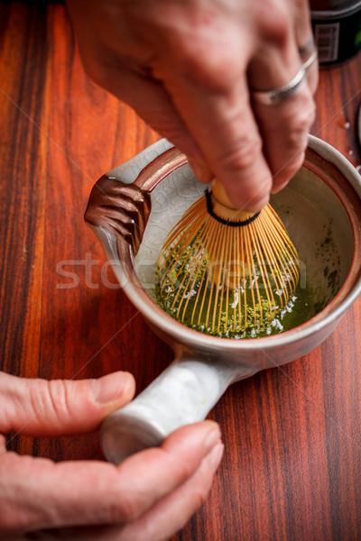 Stirring matcha tea  Stock photo © grafvision