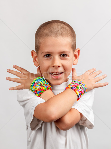 子供 着用 バンド 手 子 ホーム ストックフォト © grafvision