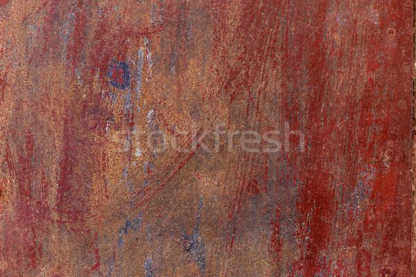 古い 金属の質感 ひびの入った 描いた デザイン 背景 ストックフォト © grafvision