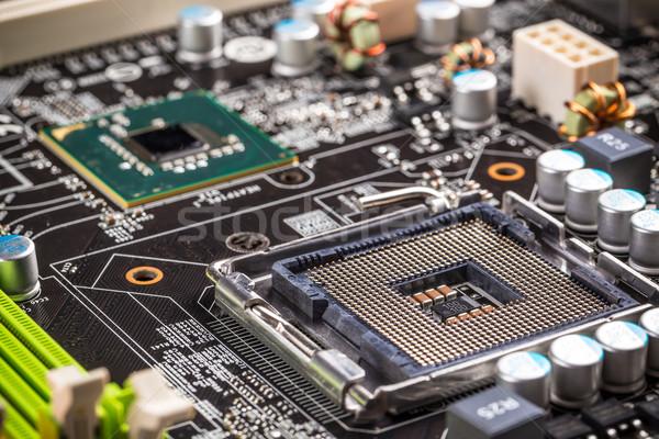 Elektronische circuit board bewerker stopcontact abstract digitale Stockfoto © grafvision